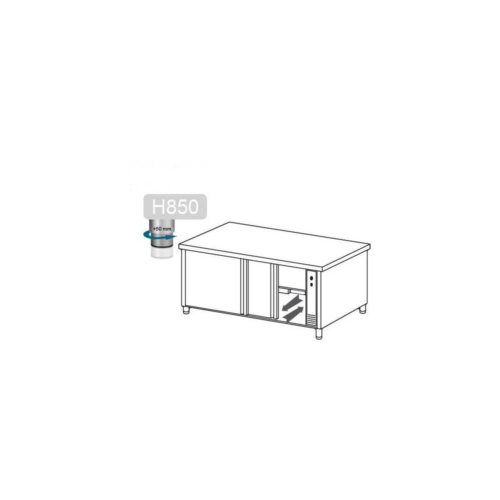armoire chauffante 160x60cm en inox avec passe plat equipemen. Black Bedroom Furniture Sets. Home Design Ideas