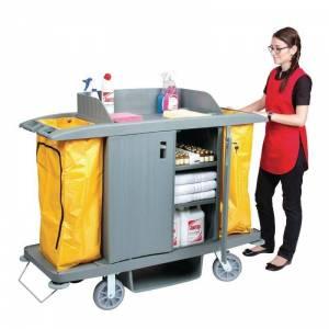 Chariot de nettoyage avec portes Jantex