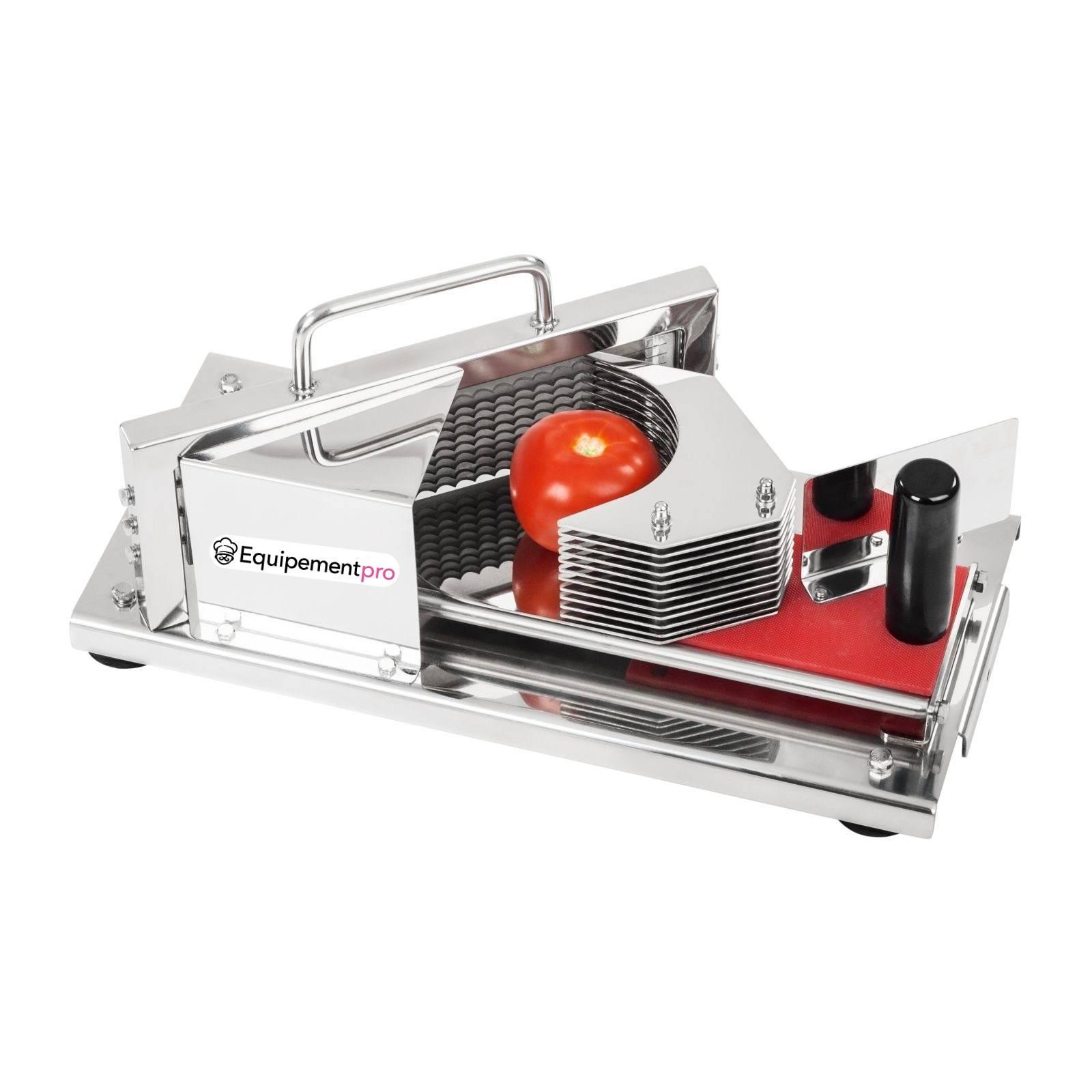 Coupe tomate professionnel en inox 4 mm equipementpro prix r - Machine a couper le pain professionnel ...