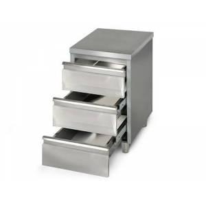 Armoire à tiroirs 50x60cm - en acier inoxydable