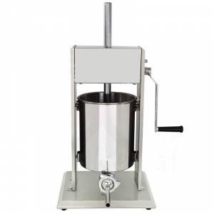 Poussoir à viande 10 Litres / machine à saucisses - en inox - 10 litres