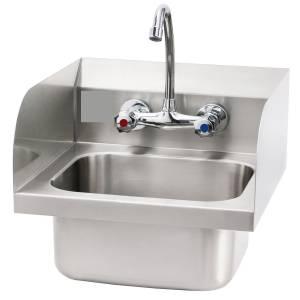 Lavabo de 40x40cm avec un robinet mitigeur (Raccordement d'eau froide et chaude)