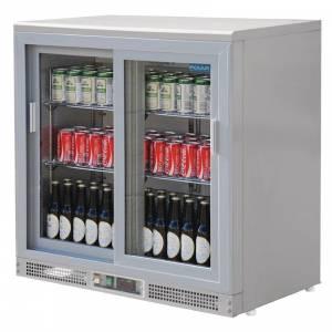 Arrière-bar double porte pivotante Polar 168 bouteilles