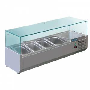 Vitrine réfrigérée à ingrédients 3x GN 1/3 et 1x GN 1/2 Polar