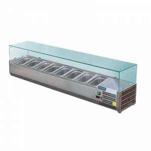 Vitrine réfrigérée à ingrédients 8 bacs GN 1/3 Polar