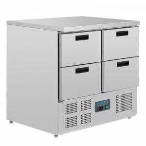 Table réfrigérée compacte 4 tiroirs 240L Polar
