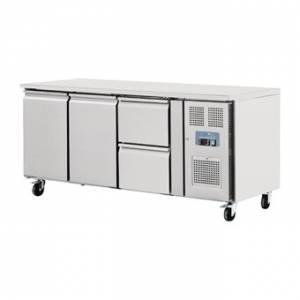 Table réfrigérée 2 portes 2 tiroirs 417L Polar