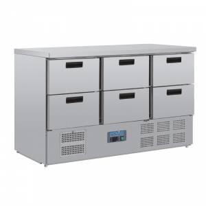 Table réfrigérée 6 tiroirs Polar