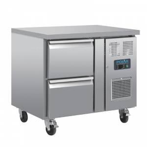 Table réfrigérée GN 1/1 ventilée 2 tiroirs Polar