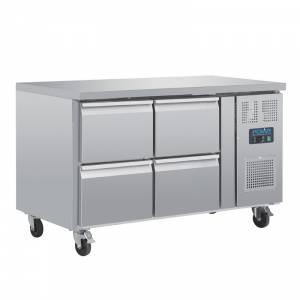 Table réfrigérée GN 1/1 ventilée 4 tiroirs Polar