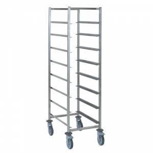 Chariot pour casiers à vaisselle 8 niveaux Tournus