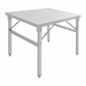 Table de travail en inox pliante 120 x 60 cm