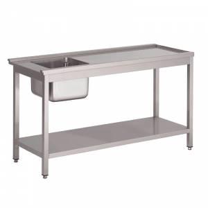 Table de prélavage gauche pour lave-vaisselle à capot GL896 Gastro M