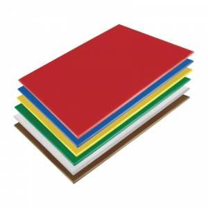 Ensemble de planches à découper basse densité Hygiplas 600x450x10mm lot de 6