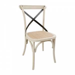 Chaises en chêne avec dossier croisé Bolero sable