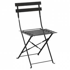 Chaises de terrasse en acier Bolero noires