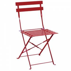 Chaises de terrasse en acier Bolero rouges