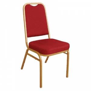 Chaises de banquet à dossier carré Bolero rouges