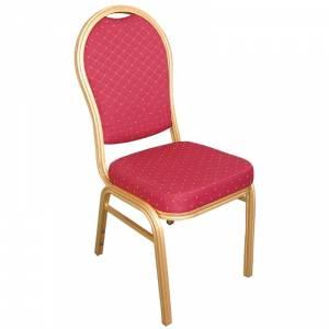 Chaises de banquet en aluminium à dossier arrondi Bolero rouges