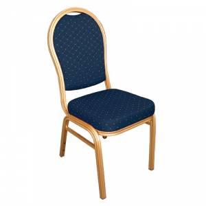 Chaises de banquet en aluminium à dossier arrondi Bolero bleues