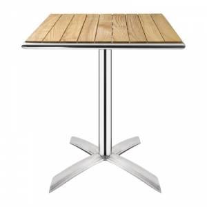 Table bistro carrée plateau basculant frêne Bolero 600mm