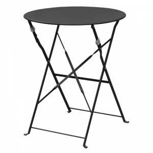 Table de terrasse en acier Bolero noire