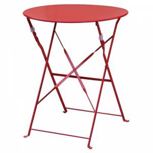 Table de terrasse en acier Bolero rouge
