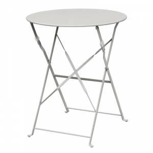 Table de terrasse en acier Bolero grise
