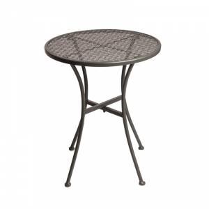 Table bistro ronde en acier ajouré Bolero grise 600mm