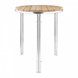 Table ronde en frêne et aluminium Bolero 600mm
