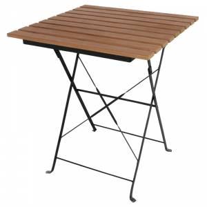 Table bistro carrée en imitation bois Bolero 600mm