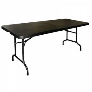 Table pliable au centre Bolero noire 1829mm