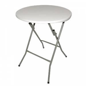 Bolero Y807/pliable Table carr/ée blanc 860/mm x 860/mm x 740/mm