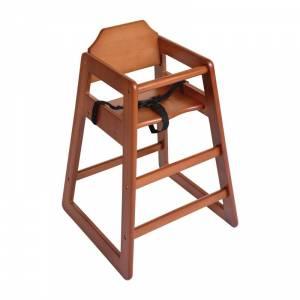 Chaise haute en bois Bolero finition bois foncé