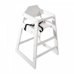 Chaise haute en bois blanche Bolero