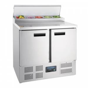 Comptoir de préparation réfrigéré pizzas salades 254L Polar