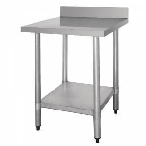 Table de préparation 60*60 cm avec rebord en acier inoxydable Vogue