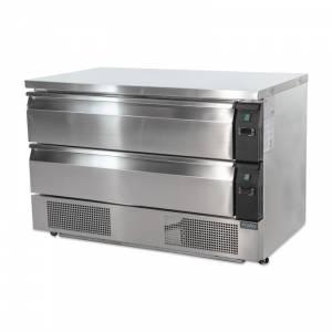 Soubassement double réfrigération 2 tiroirs Polar Série U 6x GN 1/1