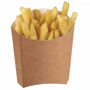 Etuis à frites moyens kraft compostables Colpac (lot de 1000)