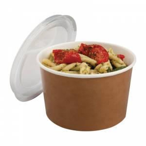 Pots alimentaires kraft recyclables avec couvercles Colpac 700ml (lot de 150)