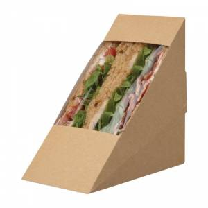 Boîtes sandwich kraft compostables avec fenêtre acétate Colpac Zest (lot de 500)