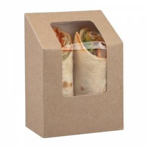 Boîtes à tortilla kraft compostables avec fenêtre PLA Colpac (lot de 500)