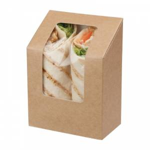 Boîtes à tortilla kraft compostables avec fenêtre acétate Colpac Zest (lot de 500)