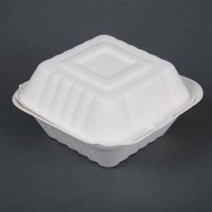 Boîtes à hamburger compostables Fiesta Green 15,3 cm (x500)