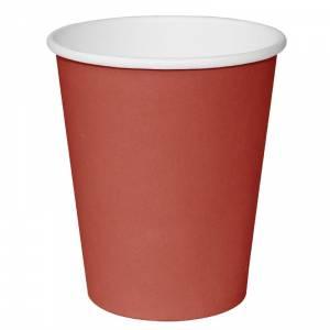 Gobelets boissons chaudes simple paroi Fiesta rouges 225ml x1000