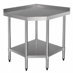 Table d'angle 700mm inox Vogue