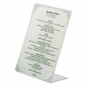 Lot de 12 Porte-menu A5 inox Olympia