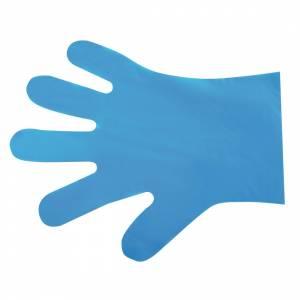 Gants de préparation alimentaire compostables Vegware bleus taille M (lot de 2400)