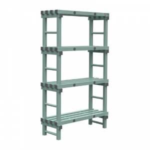 Rayonnage modulaire en angle 4 niveaux Tournus 500 x 1653mm