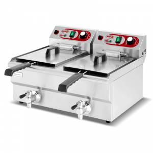Friteuse électrique 10 + 10 Litres / 230 Volts